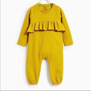 Zara yellow romper one piece jumpsuit